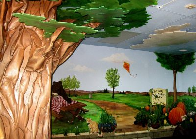 Playroom Murals and 3-D Tree