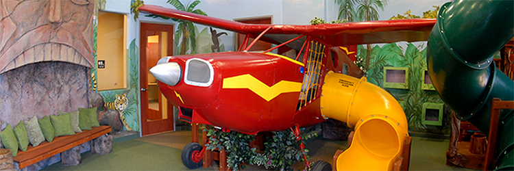 3-D Airplane with Murals