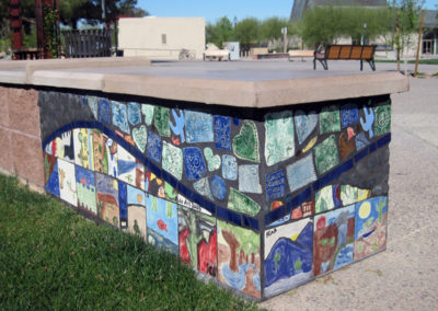 Osuna Park_Finished Seat Wall Reclaimed and New Tiles