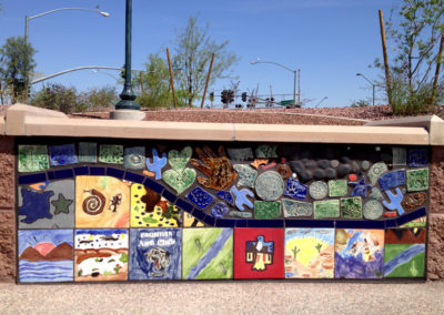Osuna Park_Finished Wall Section Reclaimed and New Tiles